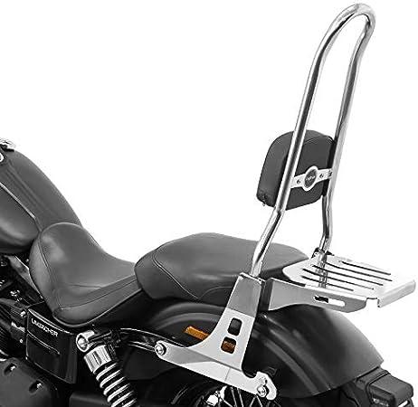 Sissybar Csxl Mit Gepäckträger Für Harley Dyna Street Bob 09 17 Low Rider S Edelstahl Auto