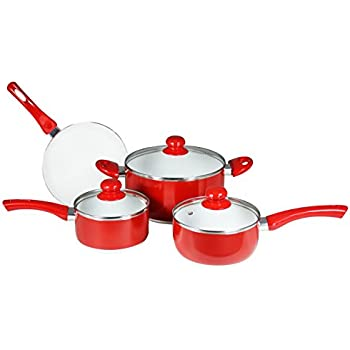 Concord Cookware CN700 7-Piece Eco Healthy Ceramic Nonstick Cookware Set
