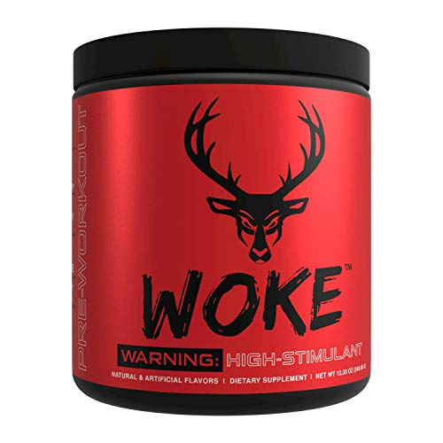 Bucked Up - Woke - HIGH STIM Pre Workout - Best Tasting - Focus Nootropic, Pump, Strength and Growth, 30 Servings (Blue Raz)