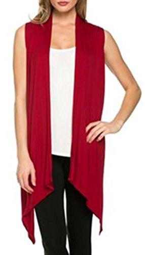 Hibluco Lightweight Sleeveless Cardigan Asymmetrical