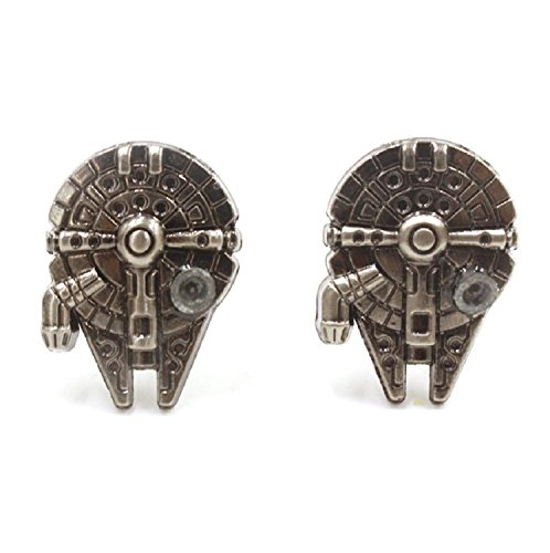 Aovei Mens Cufflinks Cufflinks for Mens with Gift Box (Millennium Falcon)