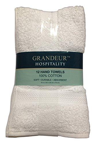 Grandeur Hospitality Hand Towels, 12 Count from Grandeur Hospitality