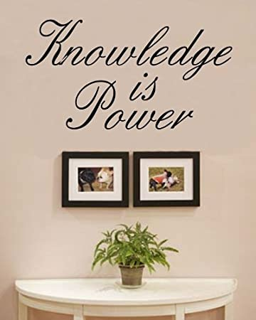 Amazon.com: Knowledge is power Vinyl Wall Decals Quotes Sayings ...