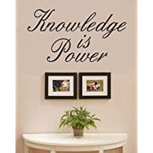 Knowledge is power Vinyl Wall Decals Quotes Sayings Words Art Decor Lettering Vinyl Wall Art Inspirational Uplifting