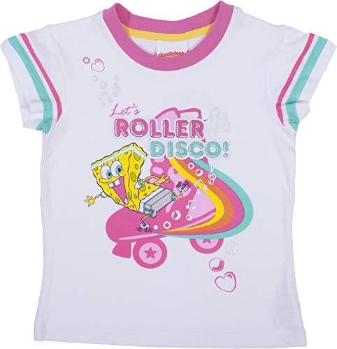 Spongebob Squarepants Let's Roller Disco Pajama Sleepwear Two (2) Piece Set LG Pink -