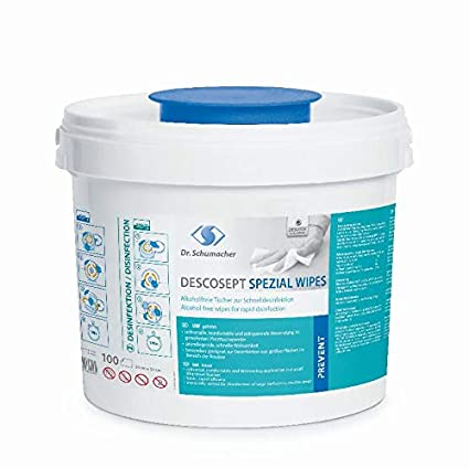 Dr. Schumacher Descosept - Toallitas desinfectantes (cubo con 100 unidades)
