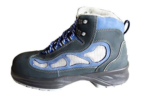 Stabilus Fit-Line 2116 Sicherheitsschuhe Arbeitsschuhe Stiefel blau/silber Gr 40, S1 ISO 20345