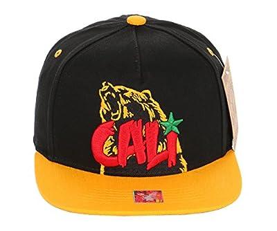 RufnTop California Republic Cap CALI Bear, Hawaii Snapback Hat by RufnTop