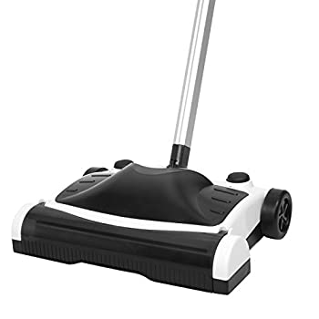 ID PRO Rechargeable Floor Sweeper with Powerful Motorized Brush and Folding Handle
