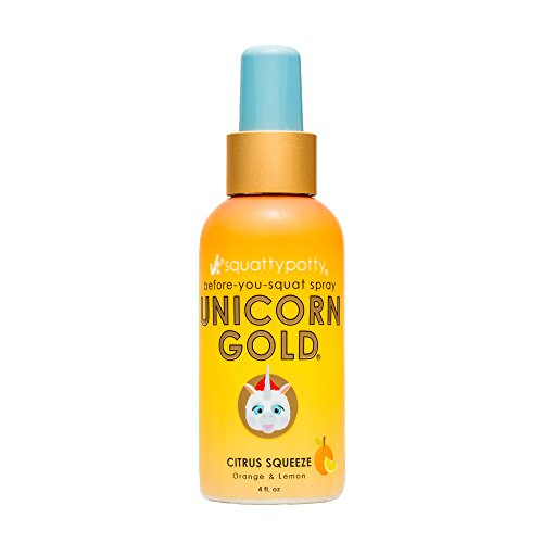Squatty Potty Unicorn Gold Toilet Spray 4 Oz Citrus