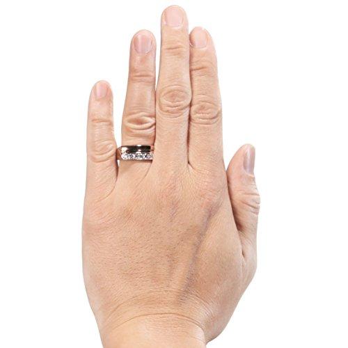 Diamond Studs Forever - Bague en or blanc et brun 14 carats - diamant 0,5 carat - pour homme - G-H/I1