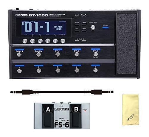 【愛曲クロス付】【フットスイッチ/FS-6+audio-technica製接続ケーブル付】BOSS ボス GT-1000 次世代のフロア型ギターアンプ/エフェクトユニット   B07JCM9L8K