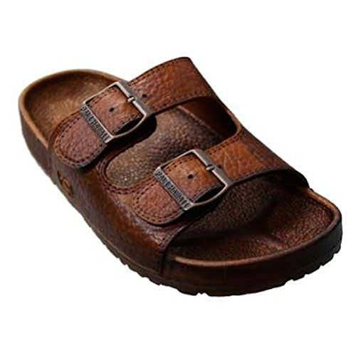 Pali Hawaii 2 Buckle Sandal (Brown, 8)