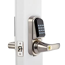 Digital Door Lock, Unlock with M1 Card, Code and Key, Security High-sensitivity High-Recognition Rate Electronic Keypad Door Lock