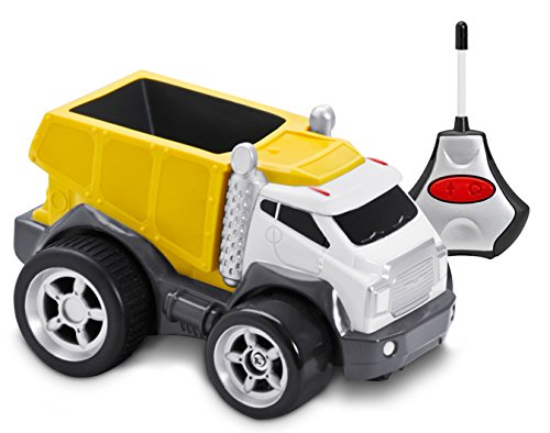 Kid Galaxy Squeezable Remote Control Dump Truck. Toddler RC Construction Toy, Assorted Colors
