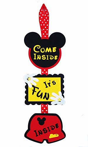 Mickey Mouse Birthday Door Sign - Welcome Hanger