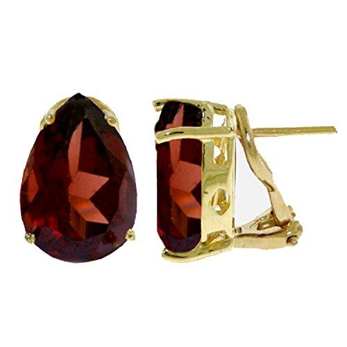 ALARRI 10 Carat 14K Solid Gold Inspiration Garnet Earrings by ALARRI