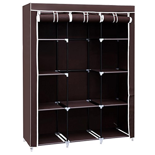 songmics-51-portable-closet-wardrobe-clothes-storage-rack-organizer-10-shelves-dark-brown-uryg93k