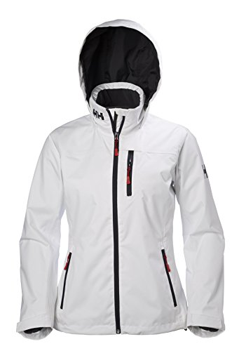 Helly Hansen Women's Crew Hooded Midlayer Jacket, White, Large