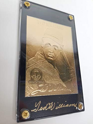 Limited Edition Heroes of Baseball Ted Williams The Splendid Splinter 22K Gold Performance Trading Card ()