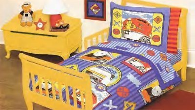 Lionel Train 4 Pc Toddler Bedding Set