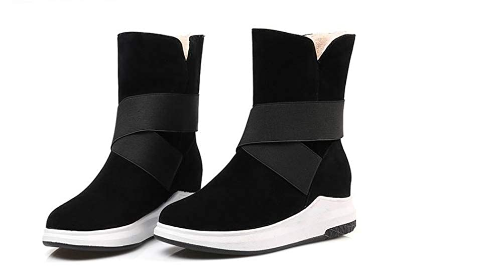 satisfied Womens Snow Boots Fur Lined Winter Outdoor Anti-Slip Boots