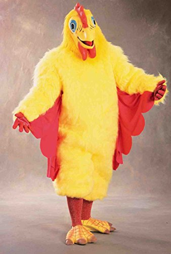 Forum Men's Plush Chicken Costume, Yellow, One (Big Bird Feet Costume)