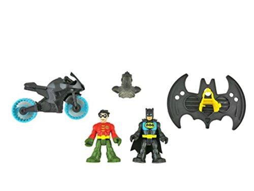 IMAGINEXT Bat Cave Replacement Parts - Batman, Robin, Motorc