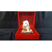 Russian art of hand carving on the bone. Panda Figurine. Deer Antler, Hand Carved, Handmade from bone, Highly Detailed, Reduced Price!