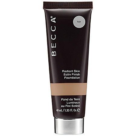 [Becca Cosmetics Radiant Skin Satin Finish Foundation 1.35 fl oz., Tan] (Satin Finish Foundation)