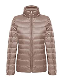 CHERRY CHICK Women's Ultralight Packable Down Jacket with Stuff Sack