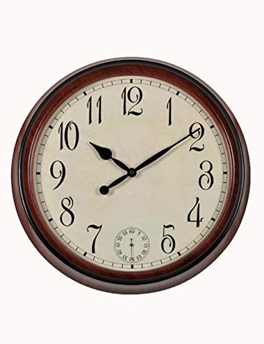 (Imoerjia Clock, Oversized Wall Clock, Faux Antique European Style Wall Clock, American Village Personalized Creative Living Room Quartz Clocks)