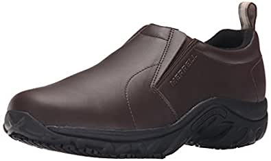 Merrell Men's Jungle Moc Pro Grip Slip-Resistant Work Shoe, Espresso, 7 M US