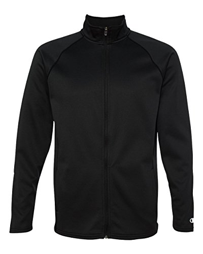 Champion Men's Performance Fleece Full-zip Jacket, Black/Black, X-Large