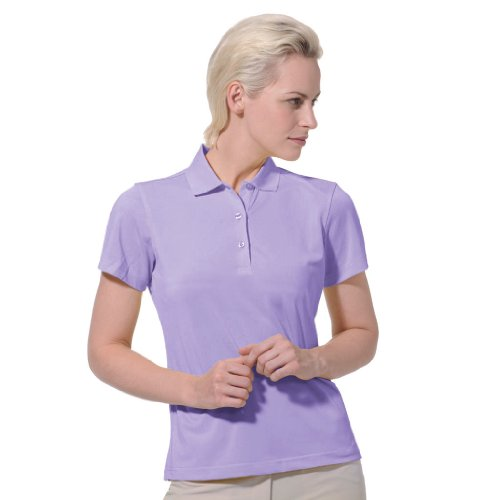 Monterey Club Dry Swing Pique Short Sleeve Solid Polo #2060 (True Violet, Large)