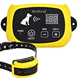 PetWorld 100% Wireless Dog Fence System Outdoor Invisible Pet Containment System Rechargeable Transmitter and Rechargeable Waterproof Collar (1 Dog System(Rechargeable))