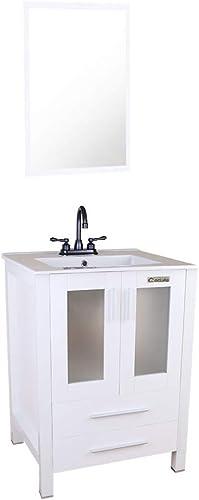 eclife 24″ Bathroom Vanity Sink Combo