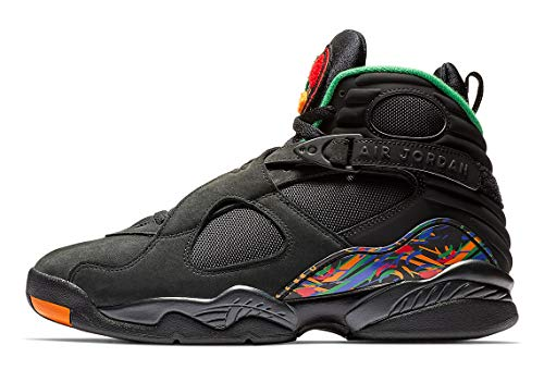 (Jordan 8 Retro Men's Shoes Black/Light Concord/Aloe Verde Noir 305381-004 (9 D(M) US))