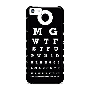High Quality Eye Chart Case For Iphone 5c / Perfect Case