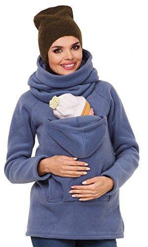 Astage® Kangaroo Mama Hoher Kragen Mutterschaft Kapuzenpullover mit Babytrage