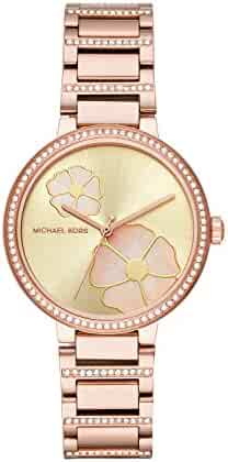 9189eb3960bc Michael Kors Women s  Courtney  Quartz Stainless Steel Casual Watch