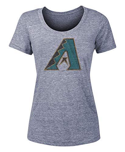 - New Era Arizona Diamondbacks Women's Distressed Vintage Logo Tri-Blend T-Shirt Large