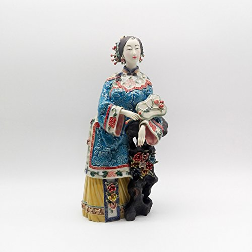 Sale Collectible Manual Porcelain Figurine Art Traditional Chinese Antique Painted Ceramic Statue Pottery Figure Decoration]()