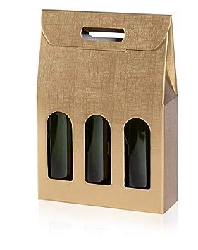 Weinkarton24.com 10 Pieza Regalo, cartón Transporte cartón ...