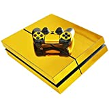 Electroplating Decal Sticker Skin Rose gold Glossy Decal Skin Sticker for Playstation 4 PS4 Console & 2 Controllers Skin Covers