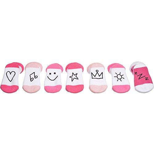 Coffret cadeau naissance 7 paires de chaussettes roses pour bébé fille - La Chaise Longue - 36-1E-010