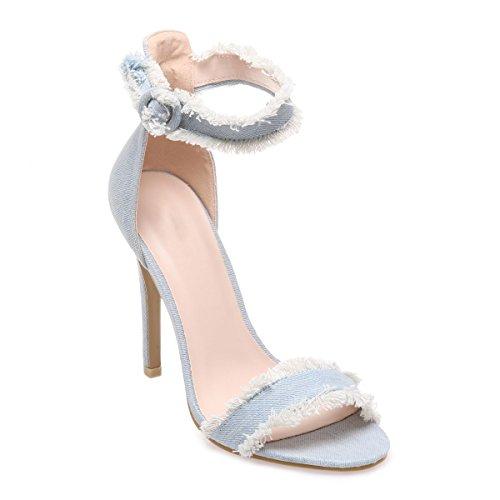 Sandalias Mujer La Claro Azul Para De Modeuse Vestir Awxvvq65PX