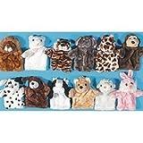 : 12pc - Plush soft cuddly Animal Hand Puppets -new!