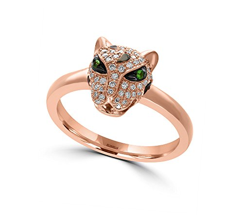 Effy 14K Rose Gold Diamond and Tsavorite Ring