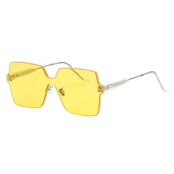 JiXuan sin montura de caramelo Gafas de sol cuadradas ...